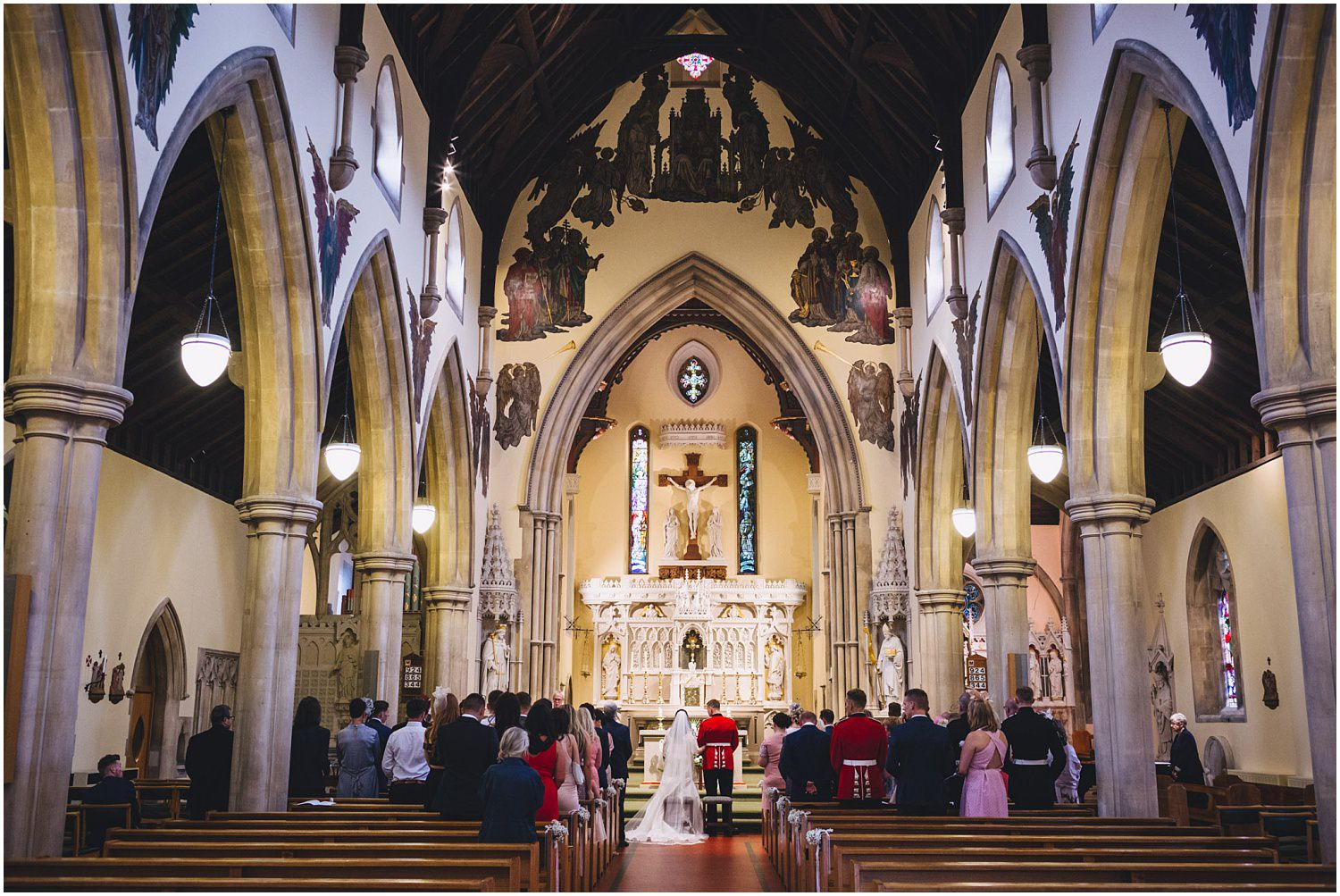 Windsor wedding. Wedding ceremony at St. Edwards Catholic church
